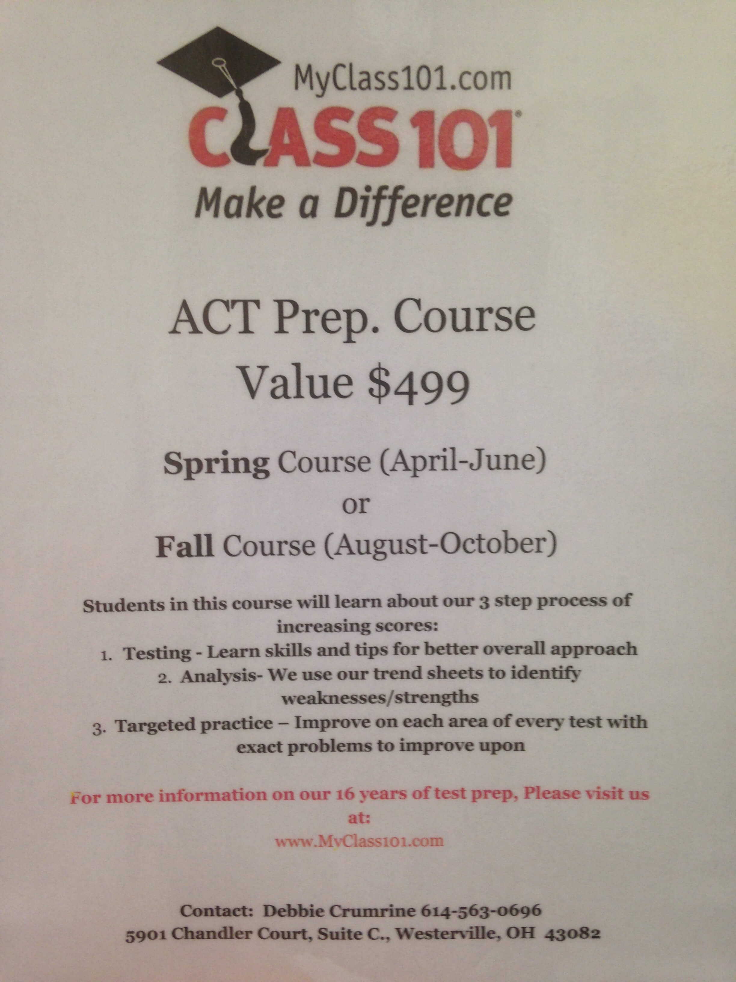 College Planning and Test Prep Class