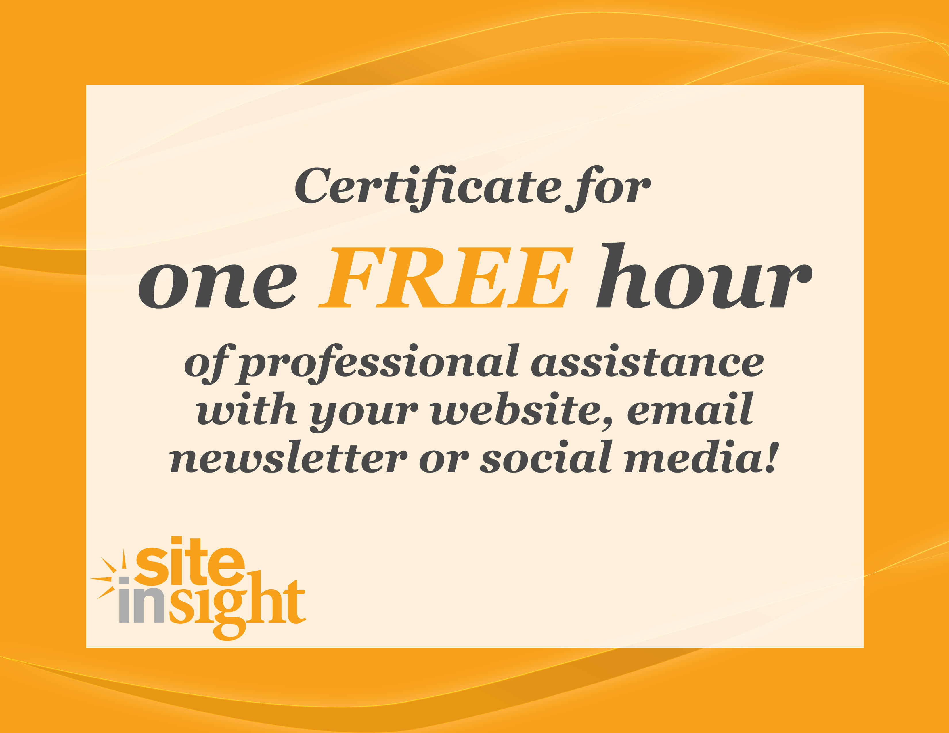One Hour Free for web or social media help
